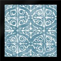 Blue Tile Light 4: Framed Art Print by Saunders, Alonzo