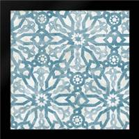 Blue Tile Light 5: Framed Art Print by Saunders, Alonzo