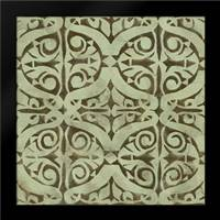 Green Tile Dark 4: Framed Art Print by Saunders, Alonzo