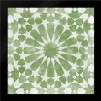 Green Tile Light 10: Framed Art Print by Saunders, Alonzo