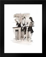 Entertain illo 2: Framed Art Print by Zyburt, Alicia