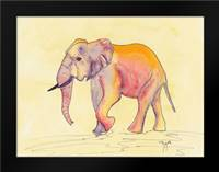Rainbow Elephant: Framed Art Print by Dyer, Beverly