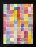 Rainbow Color Block 1: Framed Art Print by Dyer, Beverly
