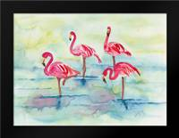 Sunset Flamingoes II: Framed Art Print by Dyer, Beverly