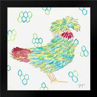Funky Chicken Squared 1: Framed Art Print by Dyer, Beverly