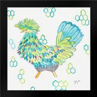 Funky Chicken Squared 2: Framed Art Print by Dyer, Beverly