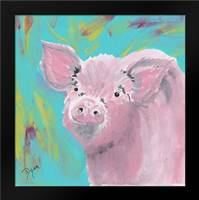 Farm Life Pig: Framed Art Print by Dyer, Beverly