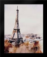 Eiffel View: Framed Art Print by Boho Hue Studio