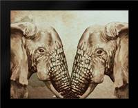 Mirror Elephants: Framed Art Print by Boho Hue Studio