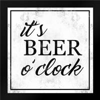 Beer O Clock: Framed Art Print by Alvarez, Cynthia