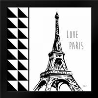 Love Paris: Framed Art Print by Stevens, Carole