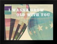 Grow Old Balloons: Framed Art Print by Davis Ashley