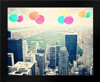 Central Park Balloons: Framed Art Print by Davis Ashley