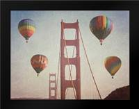 SF Balloons: Framed Art Print by Davis Ashley