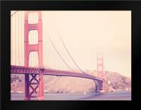 Golden Gate Vintage: Framed Art Print by Davis Ashley