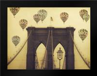 Bridge Balloons: Framed Art Print by Davis Ashley