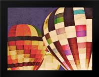 Three Hot Air Balloons: Framed Art Print by Davis Ashley