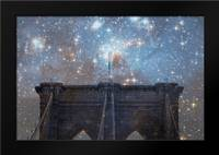 Brooklyn Starry Night: Framed Art Print by Davis Ashley