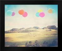 Balloons Over the Country: Framed Art Print by Davis Ashley