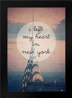 I left my heart in NY: Framed Art Print by Davis Ashley