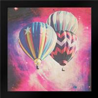 Pink Balloons in Space: Framed Art Print by Davis Ashley