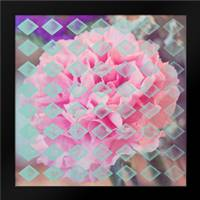 Pink Flower diamonds: Framed Art Print by Davis Ashley