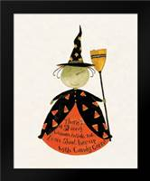 Candy Corn Witch: Framed Art Print by DiPaolo, Dan