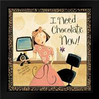 Need Chocolate: Framed Art Print by DiPaolo, Dan