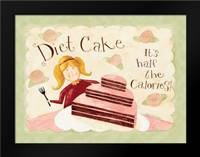 Diet Cake: Framed Art Print by DiPaolo, Dan