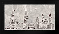 NY Skyline Warm: Framed Art Print by Stimson, Diane