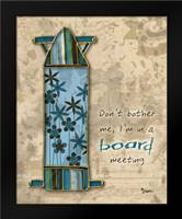 Board Mtg: Framed Art Print by Stimson, Diane