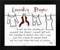 Laundry Prayer Gray: Framed Art Print by Stimson, Diane