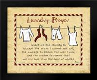 Laundry Prayer Stripe: Framed Art Print by Stimson, Diane