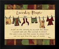 Laundry Prayer Spice: Framed Art Print by Stimson, Diane