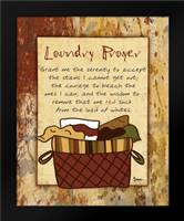 Laundry Prayer Basket: Framed Art Print by Stimson, Diane