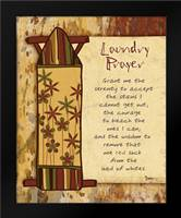 Laundry Prayer Board: Framed Art Print by Stimson, Diane