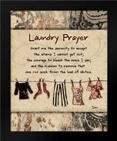 Laundry Prayer Solid: Framed Art Print by Stimson, Diane