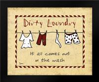 Dirty Laundry Stripe: Framed Art Print by Stimson, Diane