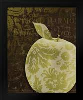 Apple Damask Vert: Framed Art Print by Stimson, Diane