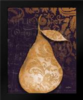Pear Damask Center: Framed Art Print by Stimson, Diane