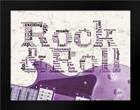 Purple Rock And Roll: Framed Art Print by Stimson, Diane