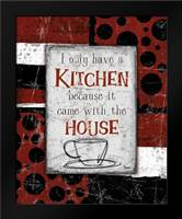 Kitchen House Red: Framed Art Print by Stimson, Diane