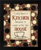 Kitchen House Brown: Framed Art Print by Stimson, Diane