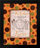 Kitchen Love Orange: Framed Art Print by Stimson, Diane