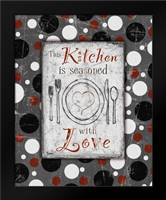 Kitchen Love Grey: Framed Art Print by Stimson, Diane