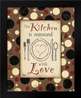 Kitchen Love Brown: Framed Art Print by Stimson, Diane