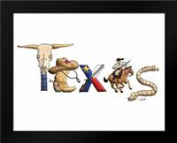 Texas: Framed Art Print by Stimson, Diane