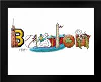 Boston: Framed Art Print by Stimson, Diane