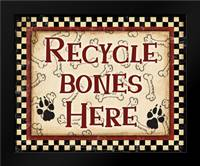 Recycle Bones: Framed Art Print by Stimson, Diane