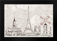 Paris Skyline: Framed Art Print by Stimson, Diane